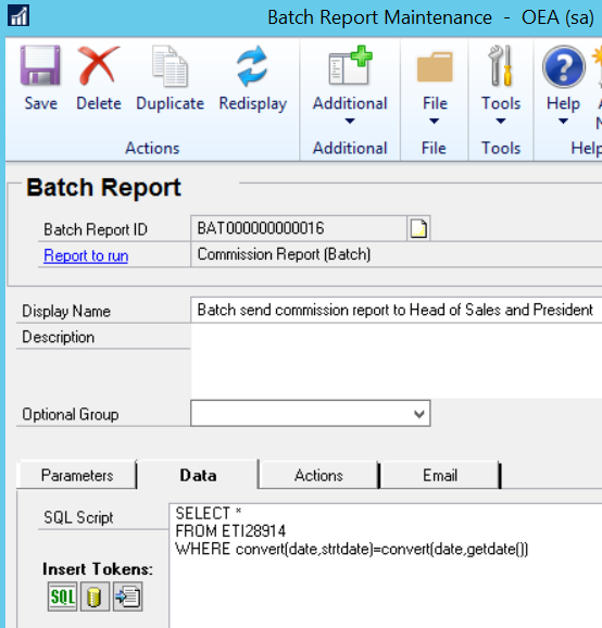 Rockton Software DRM using Commission Plan data