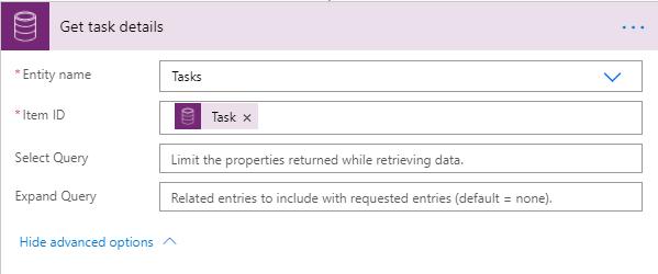 Get task details