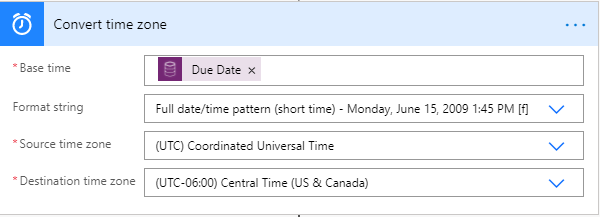 Convert time zone