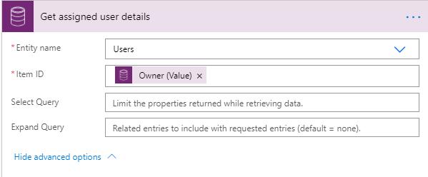 Get assigned user details