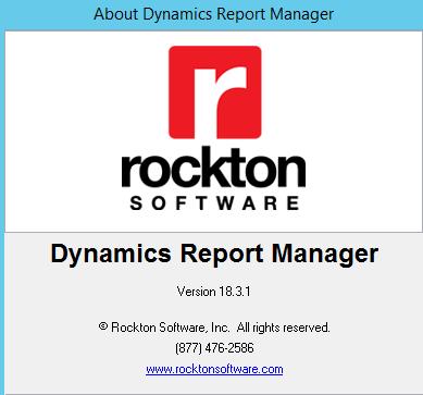 Rockton Software Dynamics Report Manager