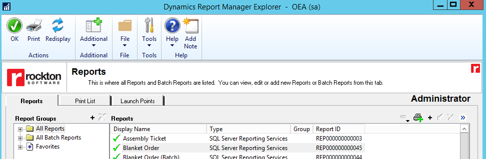 DRM add new report
