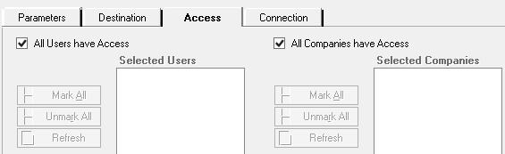 DRM Access tab