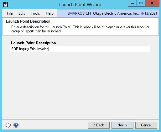 DRM launch point description