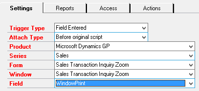 DRM launch point setting tab
