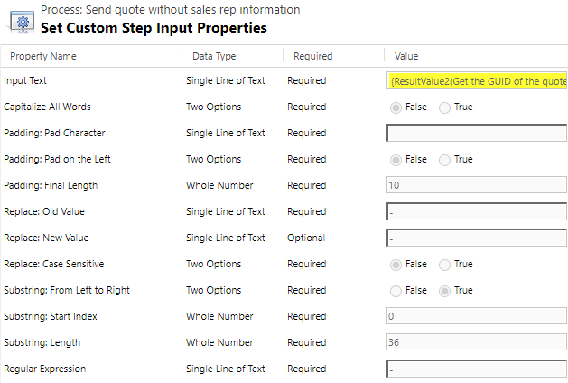 Dynamics 365 Workflow Tools String Functions