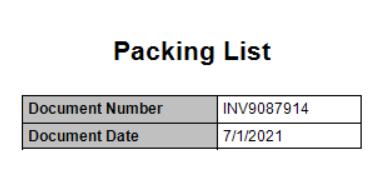 SSRS packing list in Dynamics GP